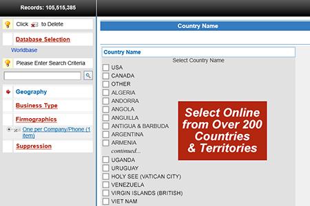 Run D&B Worldbase counts online
